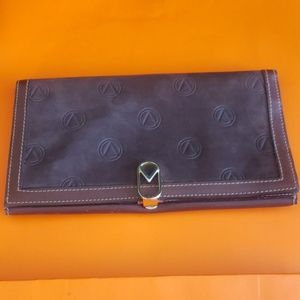 Suede/ leather wallet